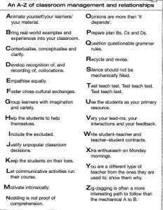 a-z of classroom management