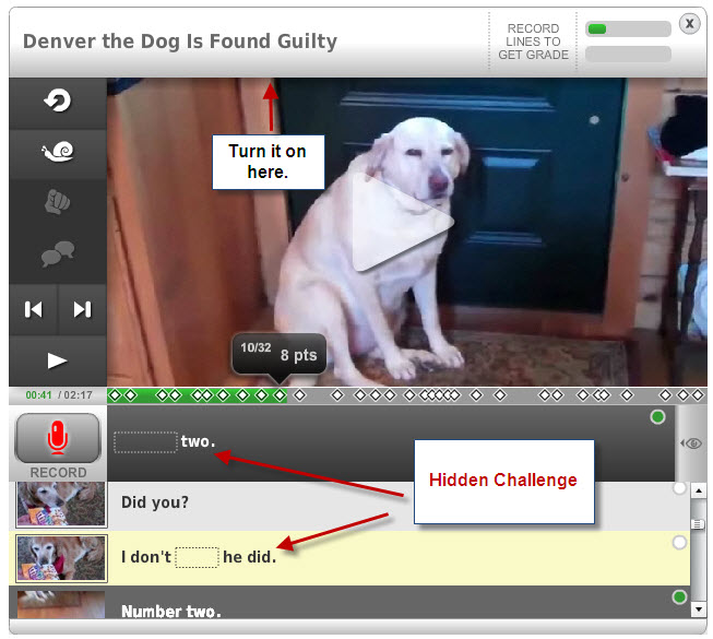 Embedding and Hidden Challenge on EnglishCentral · EFL 2.0 ...